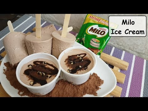 Milo Ice Cream | How to make home made ice cream (no ice cream maker)