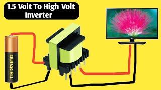 Download Video HOW to Make (1.5V) Battery to 220V AC Inverter MP3 3GP MP4