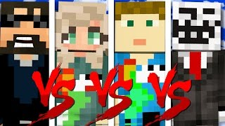 I HAVE NO FRIENDS! 1v1v1v1! in Minecraft Bed Wars!