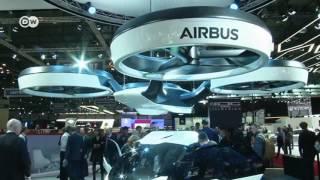 Летающий автомобиль Airbus на Женевском автосалоне 09.03.2017