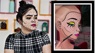 I Tried Following A Barbie Vlogs Makeup Tutorial | Funny Barbie Makeup | Anku Sharma