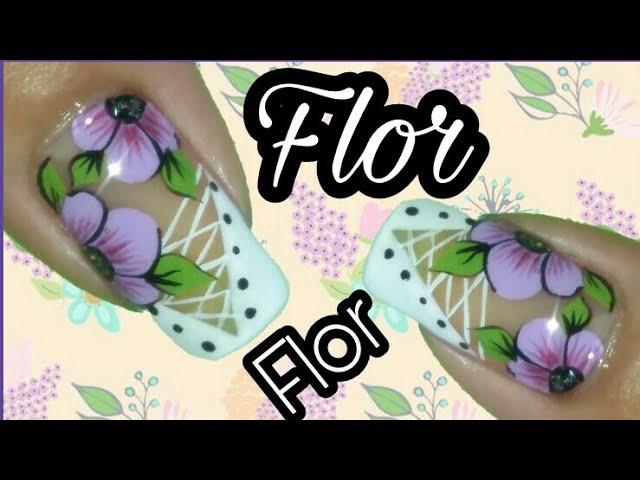 Asombroso Uñas Con Flores Friso - Ideas Para Esmaltes - aroson.com
