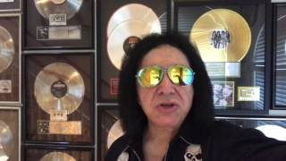 Here's a special message from Gene Simmons about his concert on Friday June 9