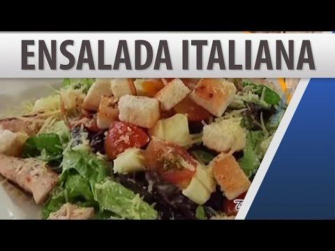 Ensalada Italiana con Vinagreta de Albahaca / Recetas de comida