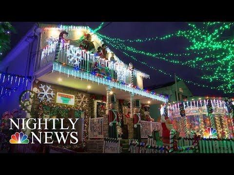 Staten Island Man Gives Back With Elaborate Christmas Display Honoring Late Wife | NBC Nightly News