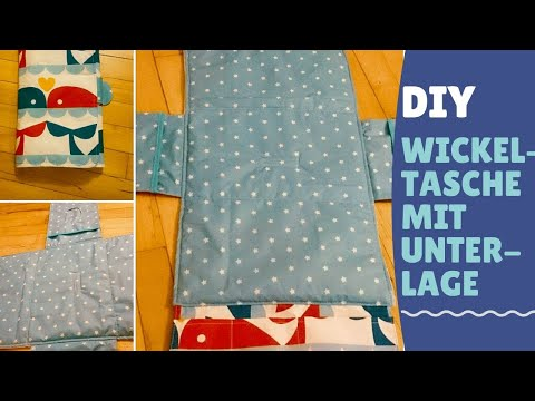 Wickelunterlage DIY / Windeltasche / Windelwrap to go