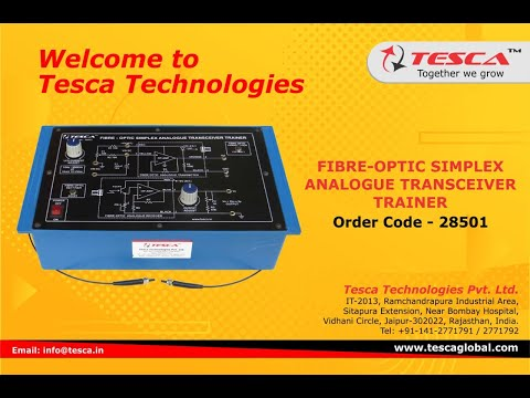 Fibre-Optic Simplex Analogue Transceiver Trainer