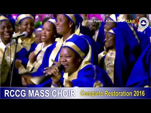 RCCG Mass Choir Powerful Ministration @ 2016 HOLY GHOST CONGRESS #Day 5