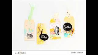 DIY Ink Spray Background On Gift Tags