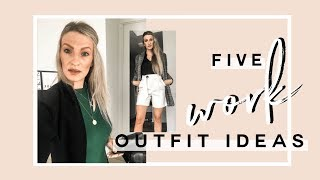 ZARA WORK OUTFIT HAUL | FIVE WORK LOOKS FOR FALL | MON MODE
