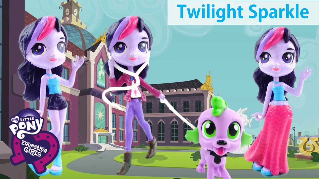 New My Little Pony Equestria Girls Twilight Sparkle Doll Custom with LPS Blythe