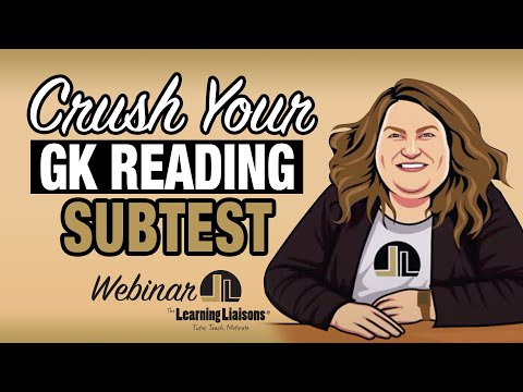 How To Crush Your GK Reading Subtest | FTCE: General ... - YouTube
