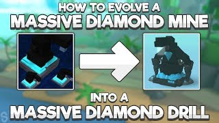 HOW TO EVOLVE A MASSIVE DIAMOND MINE INTO A MASSIVE DIAMOND DRILL! | NEW UPDATE! | Miner's Haven #28