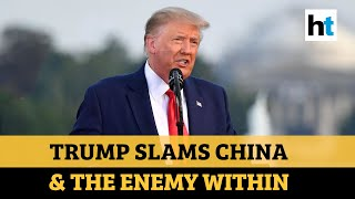 In July 4th speech, Trump slams China for Covid-19; vows to defeat radical left - Download this Video in MP3, M4A, WEBM, MP4, 3GP