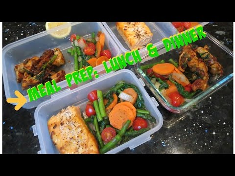 Video Meal Prepping for weight loss: Lunch & dinner