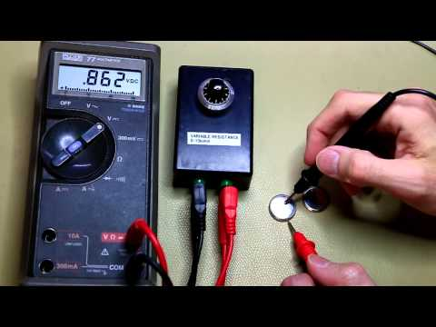 How to Measure a CR2032 Coin cell battery (#006)
