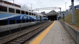 preview picture of video 'Exclusive - AMT ALP-45DP in electric mode exiting the Mount-Royal tunnel'