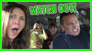 DRIVING TO KAYLAS CHEER COMPETITION | SHAWN GETS CRAZY!