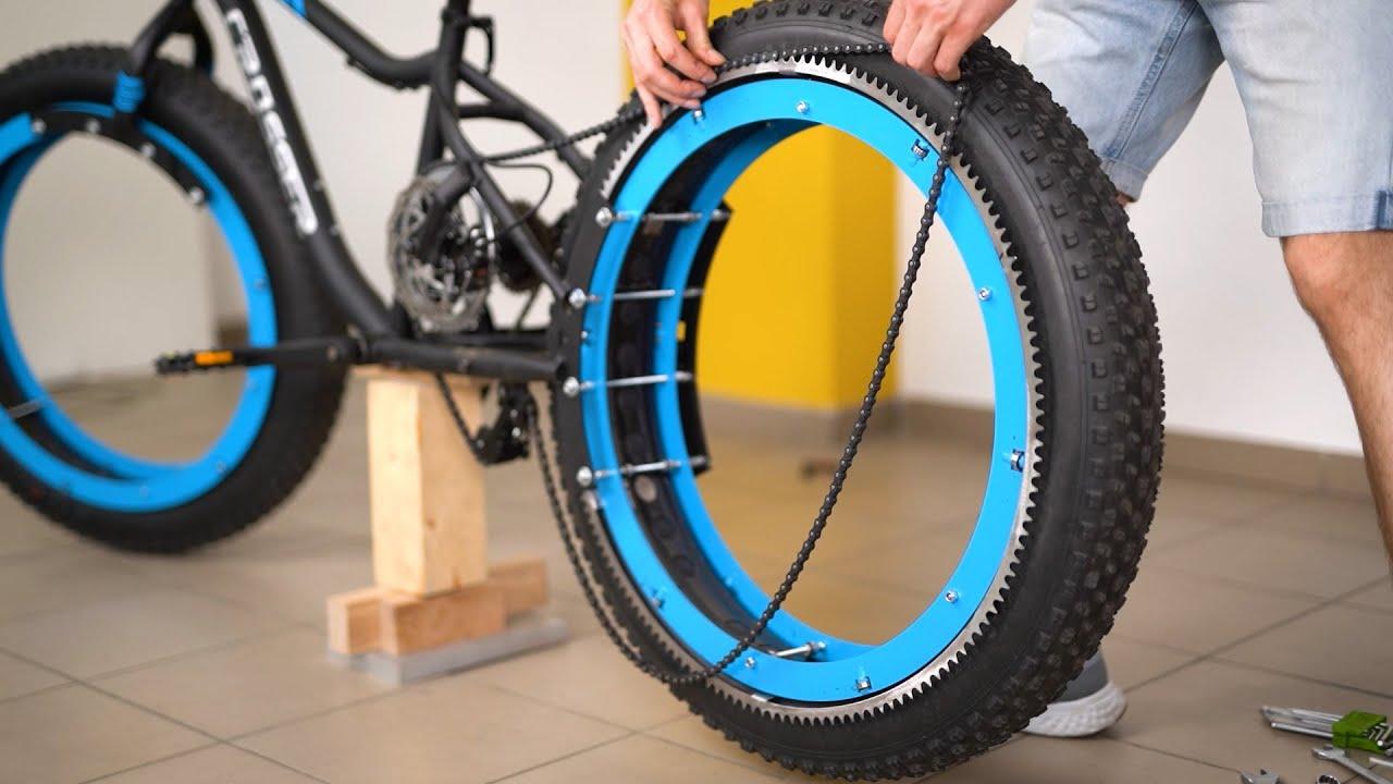 Una bici senza mozzi