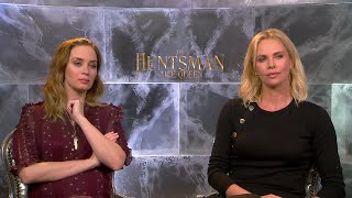 How to pronounce Charlize Theron & Emily Blunt Interview THE HUNTSMAN & THE ICE QUEEN