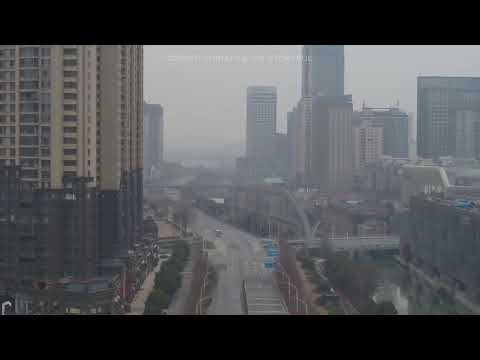 Drone Flies Over Wuhan Airport (Yup No Authorities), And Wuhan With Eerie Smog!!