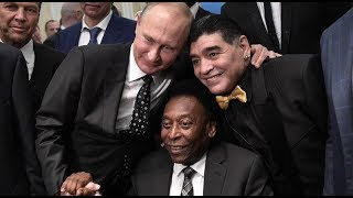 Путин выпил с Пеле и Марадоной после жеребьевки ЧМ-2018