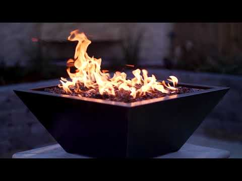 Westfalen Square High-Rise Column Fire Bowl - Oil Rubbed Bronze