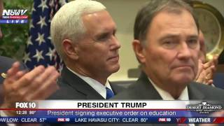 WATCH: President Trump Signs Executive Order On Education (FNN)