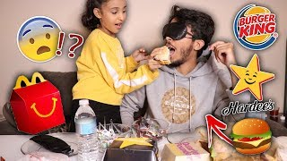 تحدي حاول تعرف البرجر من اي مطعم وانت مغمض ! ( اختي غشت علي !!! )