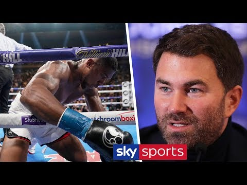 Eddie Hearn dismisses the rumour that Anthony Joshua had a panic attack after being KO'd in sparring