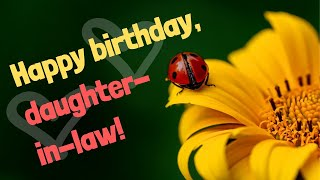 Birthday Wishes for Daughter-in-Law - Sweet Happy Birthday Message