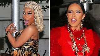 FIGHT NIGHT! Nicki Minaj And Cardi B Looked Ready To Rumble At NYFW Party Before Their Throwdown ...