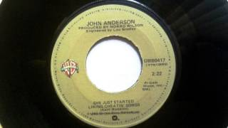 She Just Started Liking Cheatin' Songs , John Anderson , 1980 Vinyl 45RPM