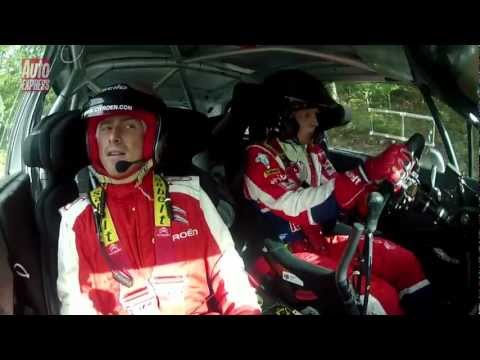 Citroen DS3 WRC rally car ride - Auto Express