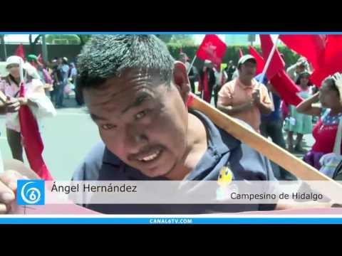 Antorcha Campesina se manifestó en la Comisión Nacional para el Desarrollo de los Pueblos