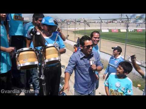 """""""La Gvardia Xtrema en las Previas de Futbol en América y Best Cable en Casagrande."""" Barra: Gvardia Xtrema • Club: Sporting Cristal"""