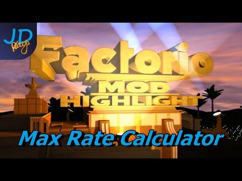 Max Rate Calculator | Factorio Mod Highlight