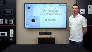 GOLIATH 2-Draht IP und IP Video Türsprechanlage - Unterschiede zwischen der 2-Draht und IP-Technik