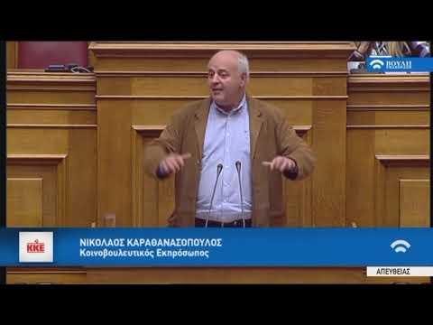 Ν.Καραθανασόπουλος(Κοινοβ.Εκπρόσωπος Κ.Κ.Ε)(Διανομή Κοινωνικού Μερίσματος)(20/11/2017)