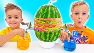 Vlad and Niki have fun with Mom - collection kids video with toys