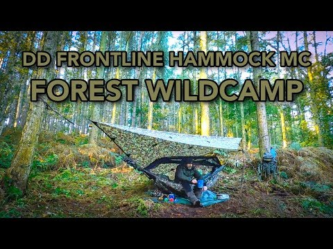 DD Frontline Hammock MC | Solo Forest Wild Camp | DD Underblanket and 3x3 Tarp Pro