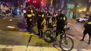 Downtown Columbus Vandalized During Protests