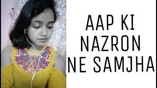 AAP KI NAZRON NE SAMJHA (Lata Mangeshkar) - Anpadh (1962) |Cover by Tanamika