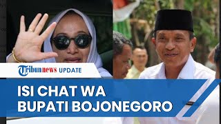 Isi Chat Whatsapp Bupati Bojonegoro yang Buat Wakilnya Laporkan atas Kasus Pencemaran Nama Baik