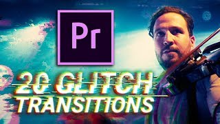 20 Glitch Transitions for Premiere Pro