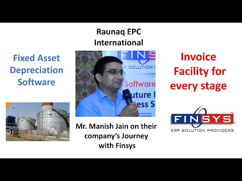 Mr. Manish Jain from Raunaq EPC International Limited at Finsys ERP Conclave