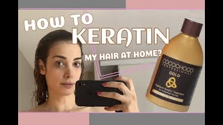 How to keratin my hair video using COCOCHOCO GOLD at home DIY??