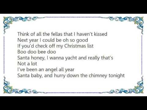 Faith Evans - Santa Baby Lyrics