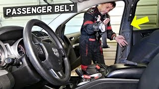 DODGE JOURNEY PASSENGER SIDE SEAT BELT REPLACEMENT REMOVAL. FIAT FREEMONT