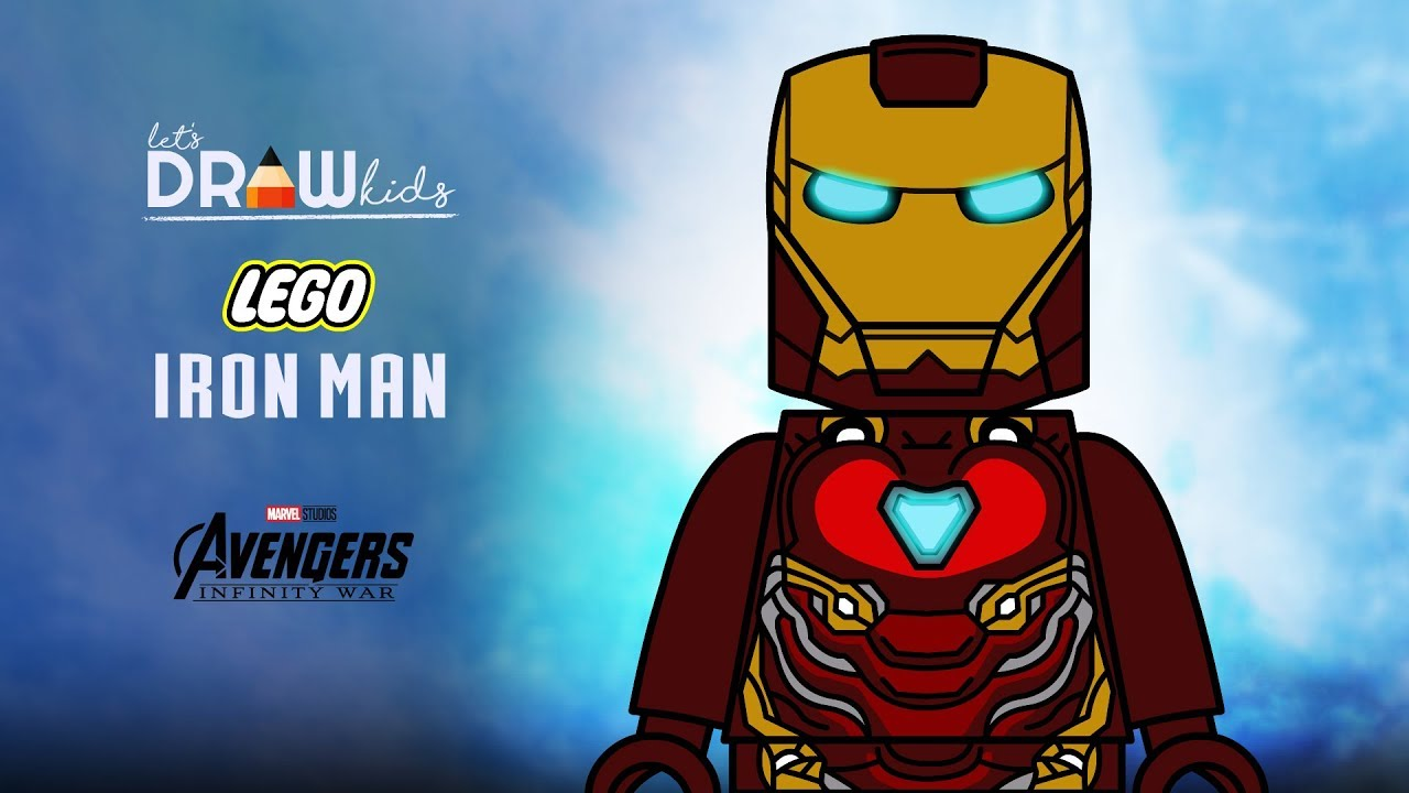 How to draw Lego Iron Man Mark 50 from Marvel\'s Avengers: Infinity War